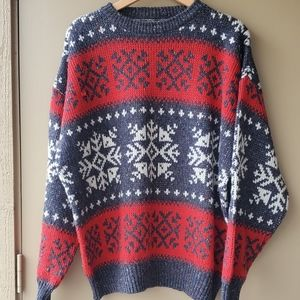 Vintage 80s Collectif Snowflake Wool Sweater